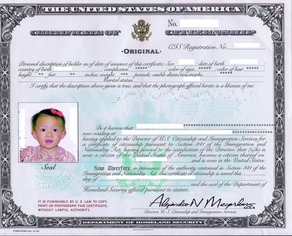 What S A Naturalization Certificate